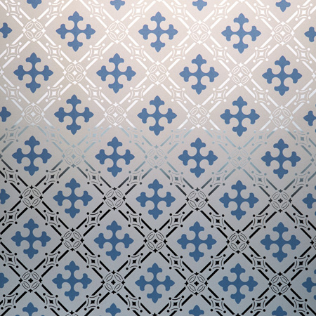 Victorian Patterned - Blue Gothic